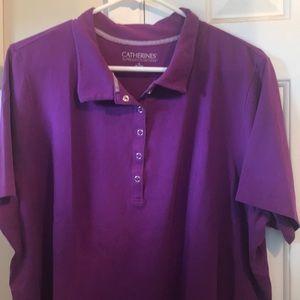 Catherine's Suprema Collection purple Collar Shirt